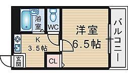 GARDEN TREE岡町[2階]の間取り