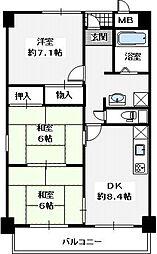 スピールプラッツ・1階部分(角部屋)[1階]の間取り