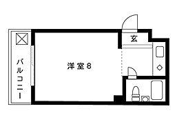 メモリーハイム[1階]の間取り