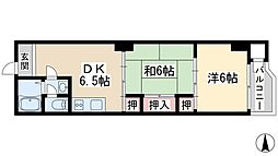 Osaka Metro御堂筋線 新大阪駅 徒歩6分の賃貸マンション 6階2DKの間取り
