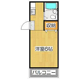 よしずマンション[411号室]の間取り