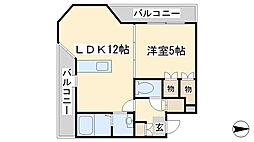 ロイヤルセンターBLD[303号室]の間取り