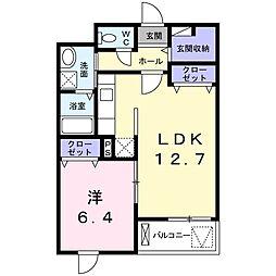 タキヤマレジデンス[1階]の間取り