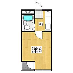 メゾン服部[3階]の間取り
