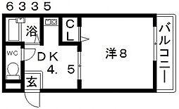カーサベルデ[303号室号室]の間取り