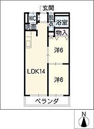ロイヤル太平洋[1階]の間取り