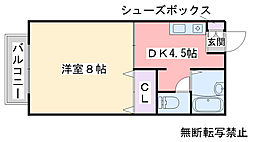 ニース矢野[203号室]の間取り