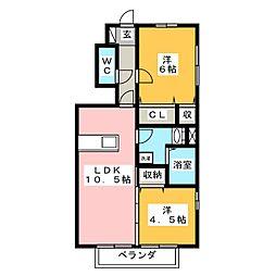 コーナス[1階]の間取り