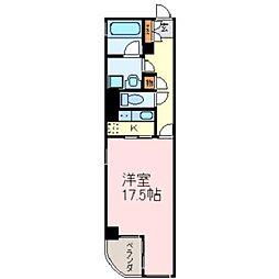 レインボー高蔵[8階]の間取り