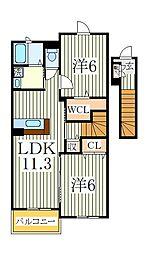 モリペトラII[2階]の間取り