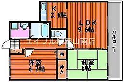 岡山県岡山市南区松浜町丁目なしの賃貸マンションの間取り