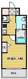 エステムコート難波ウエストサイドIVザ・フォース[2階]の間取り