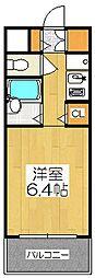 マノワール木津屋橋[603号室]の間取り