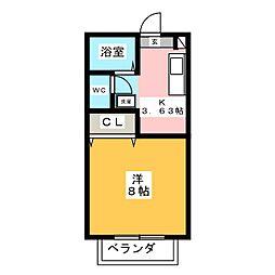 ハウス一条今泉[1階]の間取り