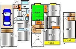 [一戸建] 東京都国分寺市日吉町2丁目 の賃貸【/】の間取り