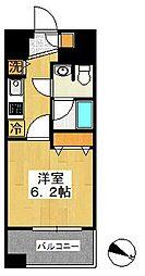 神奈川県横浜市中区富士見町の賃貸マンションの間取り