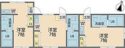 小田急小田原線 相武台前駅 徒歩10分の賃貸アパート 2階ワンルームの間取り