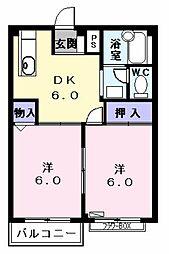 グリーンハイツ五反田2[0102号室]の間取り
