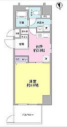 東京都中央区東日本橋2丁目の賃貸マンションの間取り