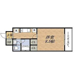 グランシャルマン新大阪[4階]の間取り
