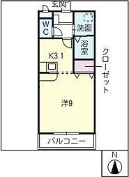 ジュネスドミール[2階]の間取り