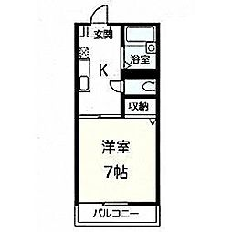 神奈川県厚木市旭町5丁目の賃貸アパートの間取り