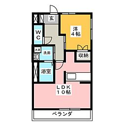 グローブコート[2階]の間取り