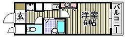 ユニスペースコープイサム[7階]の間取り