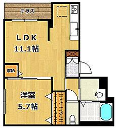 シャーメゾン甲子園高潮[1階]の間取り