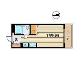 東京都世田谷区梅丘3丁目の賃貸マンションの間取り