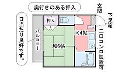 コーポIYASAKA[11号室]の間取り