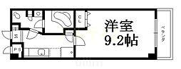 京阪本線 七条駅 徒歩12分の賃貸マンション 2階1Kの間取り