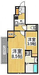 ディアコートT・Y[1階]の間取り