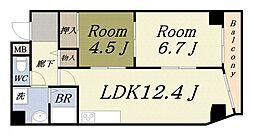 第20柴田マンション[12階]の間取り