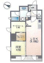 ピアース渋谷WEST 7階1SLDKの間取り