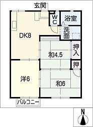 アクティブシティ A棟[2階]の間取り