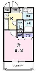 メゾンドブシヤ[3階]の間取り