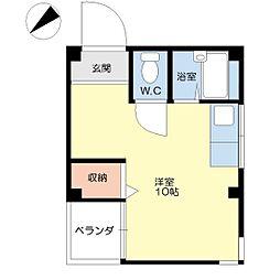 ハイツ渡辺I[4階]の間取り
