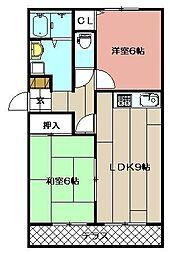 セジュール感田II[203号室]の間取り