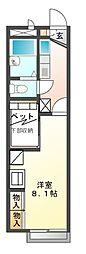 兵庫県姫路市宮上町1丁目の賃貸アパートの間取り