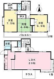 [一戸建] 東京都三鷹市中原4丁目 の賃貸【/】の間取り