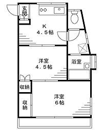 トバリハイツ3[1階]の間取り