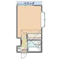 神奈川県横浜市戸塚区名瀬町の賃貸アパートの間取り