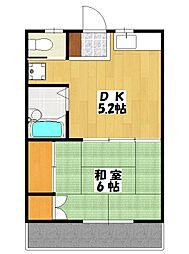 ヴィラヤワタ[2階]の間取り