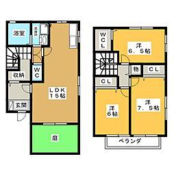 [テラスハウス] 愛知県日進市竹の山4丁目 の賃貸【/】の間取り