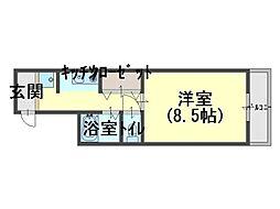 プリムローズ岸和田[2階]の間取り