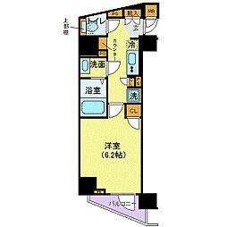 メイクスデザイン西新宿 5階1Kの間取り