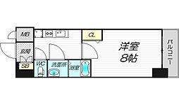 PHOENIX新大阪 13階1Kの間取り