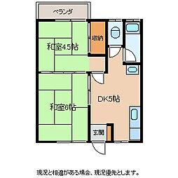 岡田コーポ[2階]の間取り