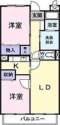 アビタシオン早稲田[0102号室]の間取り
